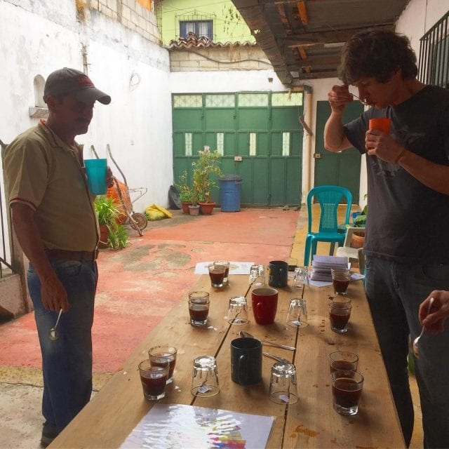 cupping with producer