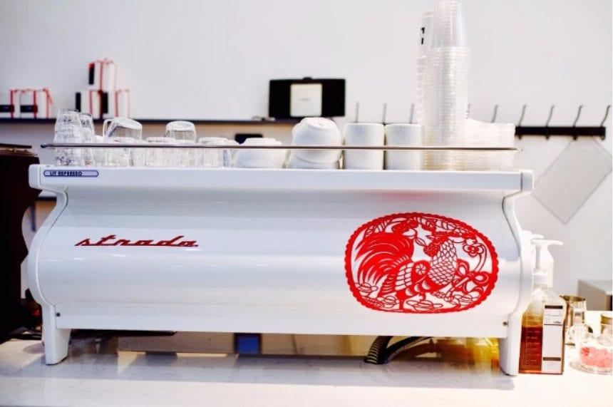 la marzocco espresso machine with chinese design
