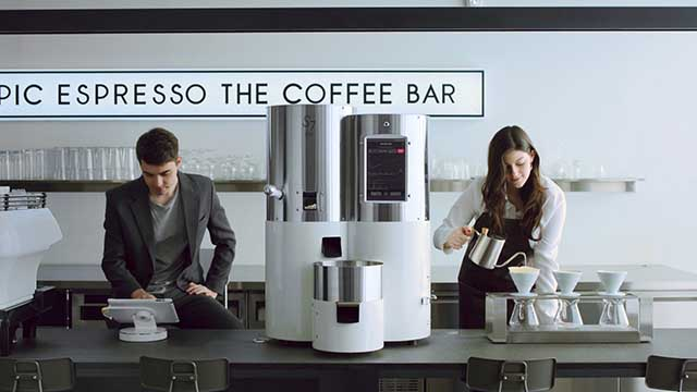 Stronghold S7 Smart Roaster on café counter