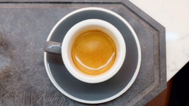 dose de cafe espresso