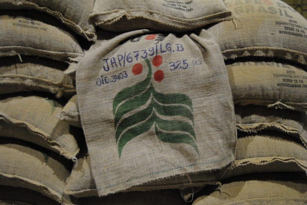 Bags of Brazilian coffee