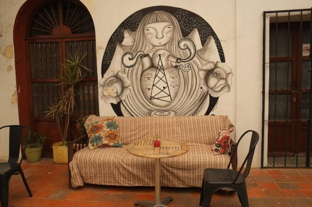 coffee shop in oaxaca