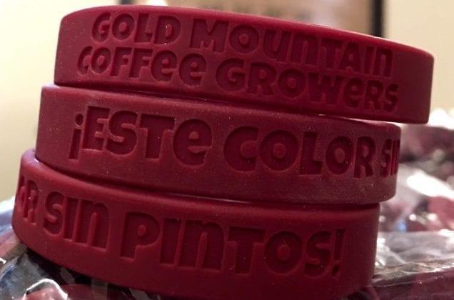 Pulseiras de maturação usadas para determinar se o café está maduro