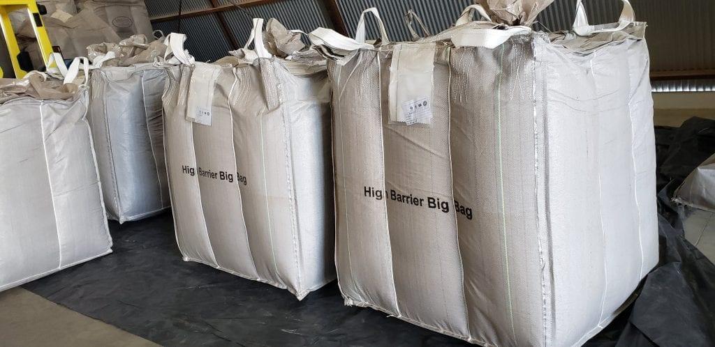 grãos de café em bigbags