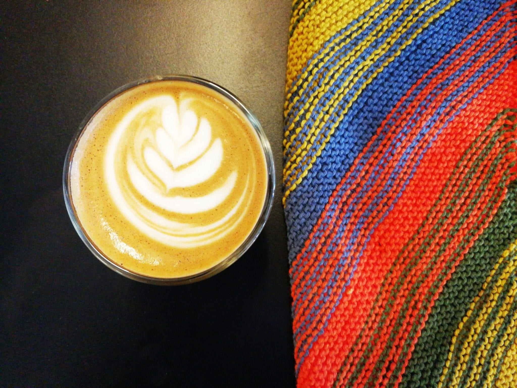 A specialty latte