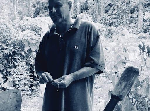 A small-scale coffee grower, Topes de Collantes, Cuba.