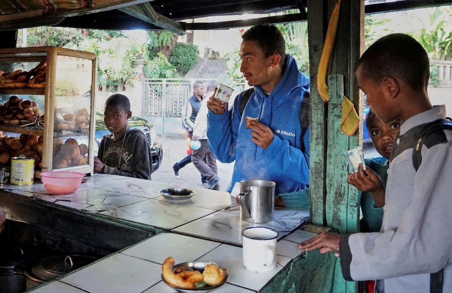Coffee and street food