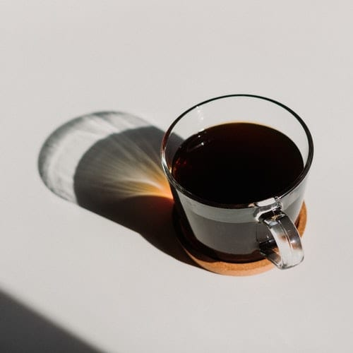 black coffee in glass