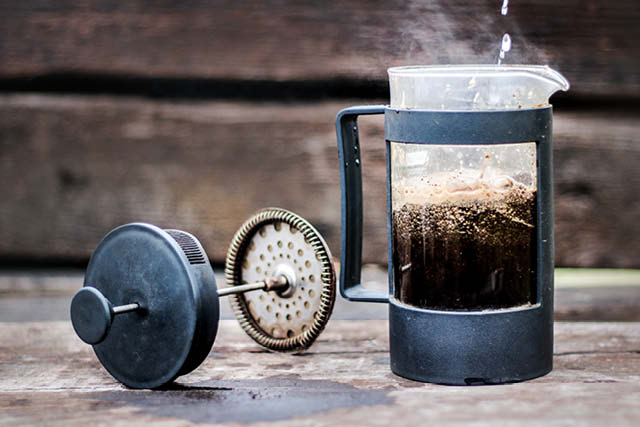 coffee brewed on french press