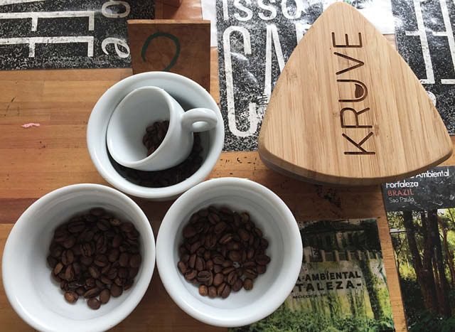 coffee beans and kruve sifter