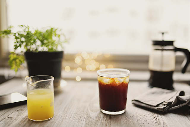cold drinks and french press