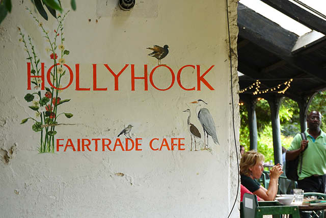 Hollyhock fairtrade cafe sign