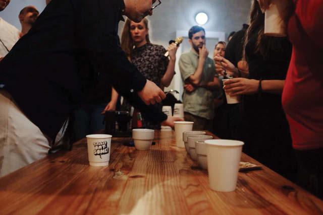 coffee event in progress