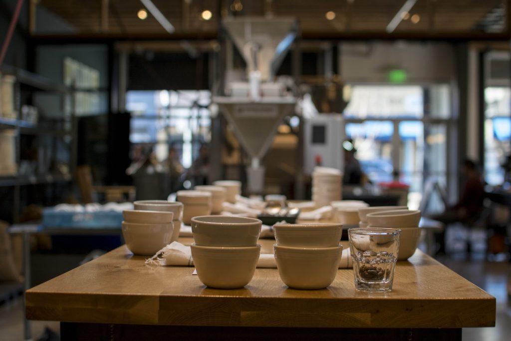 cupping table set up