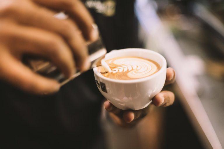 preparando um cappuccino na temperatura certa
