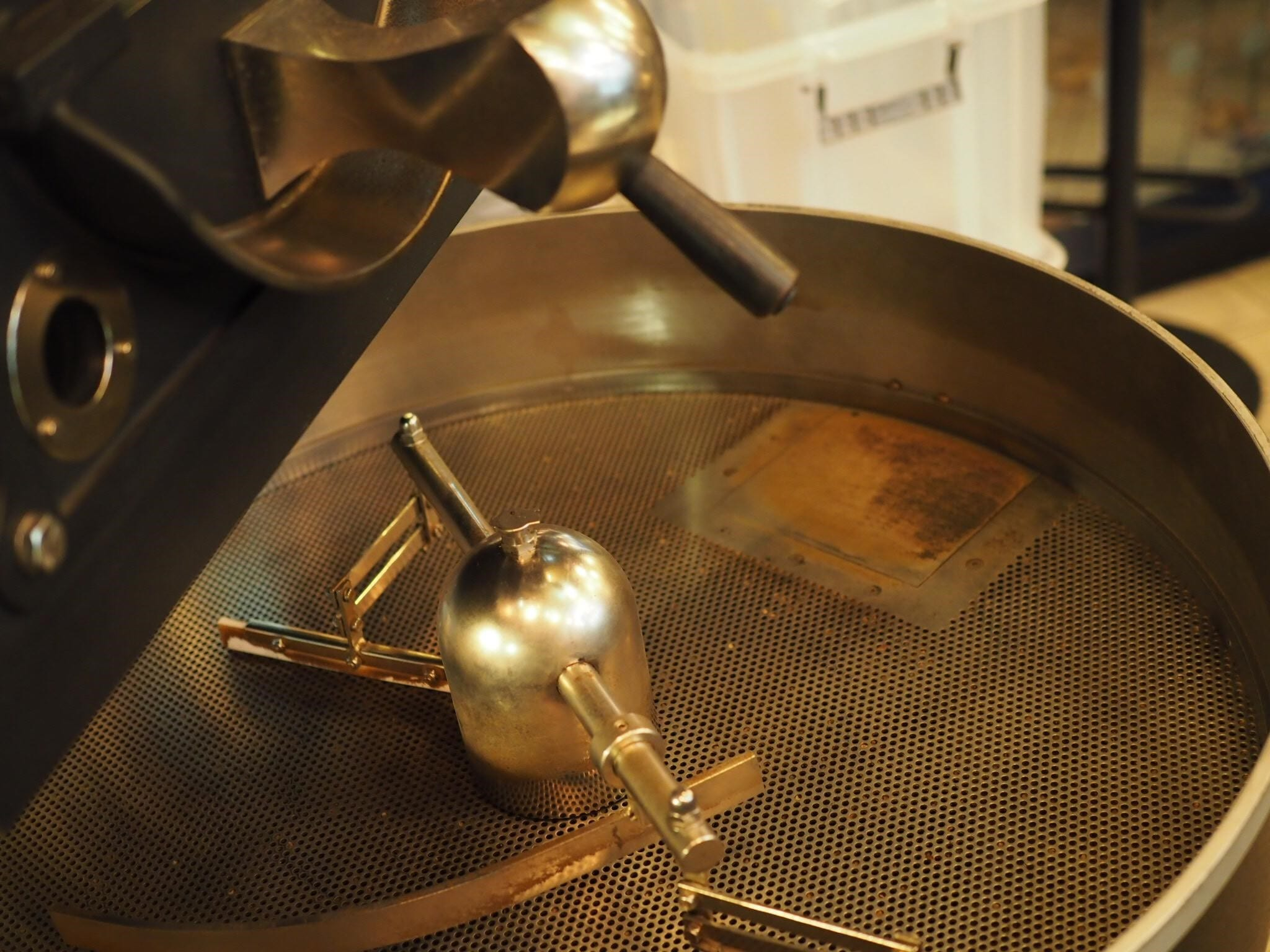 a coffee roaster ready to work