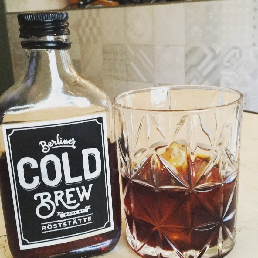 bottle cold brew served in a glass