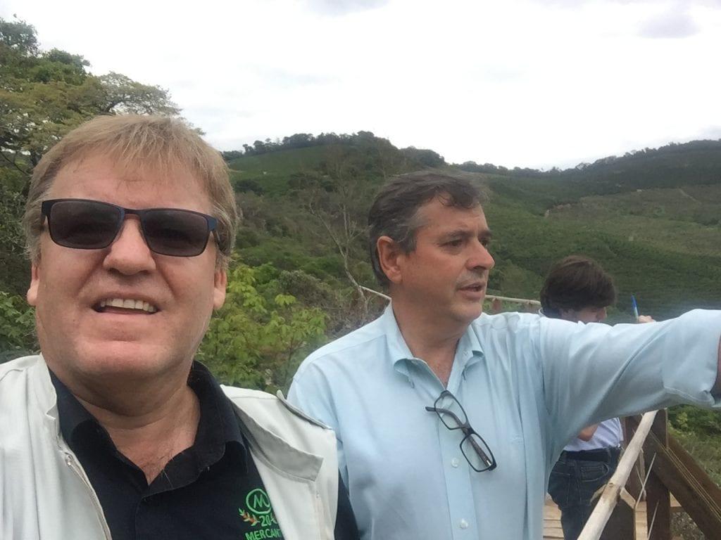 Stephen Hurst, fundador da Mercanta, e Washington Rodrigues, CEO da Ipanema Coffees