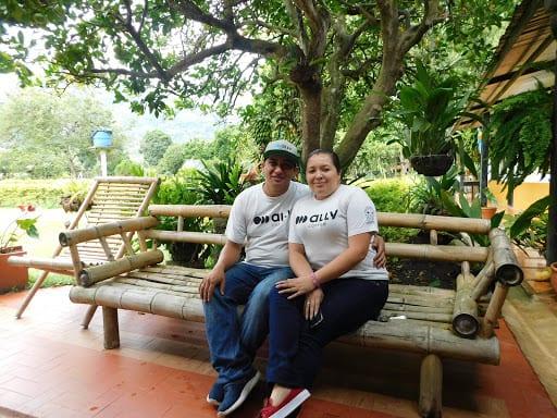 Rodrigo Sanchez and Claudia Samboni at El Triunfo, Colombia