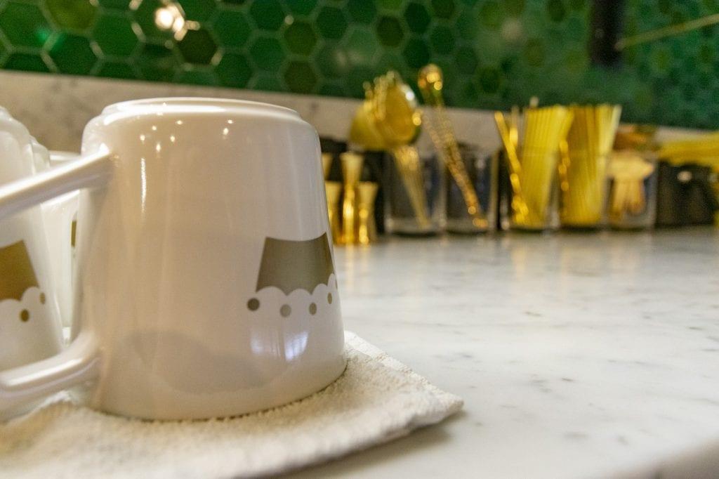 The Crown's custom mugs