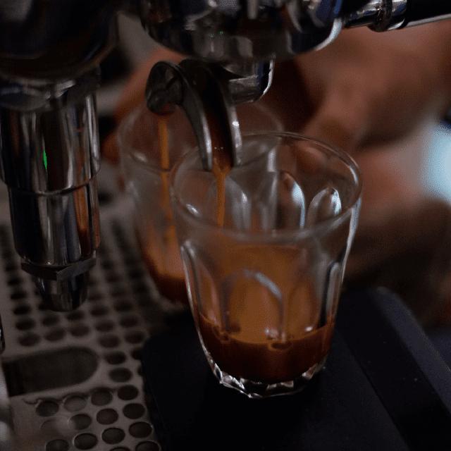 Doses de café espresso.