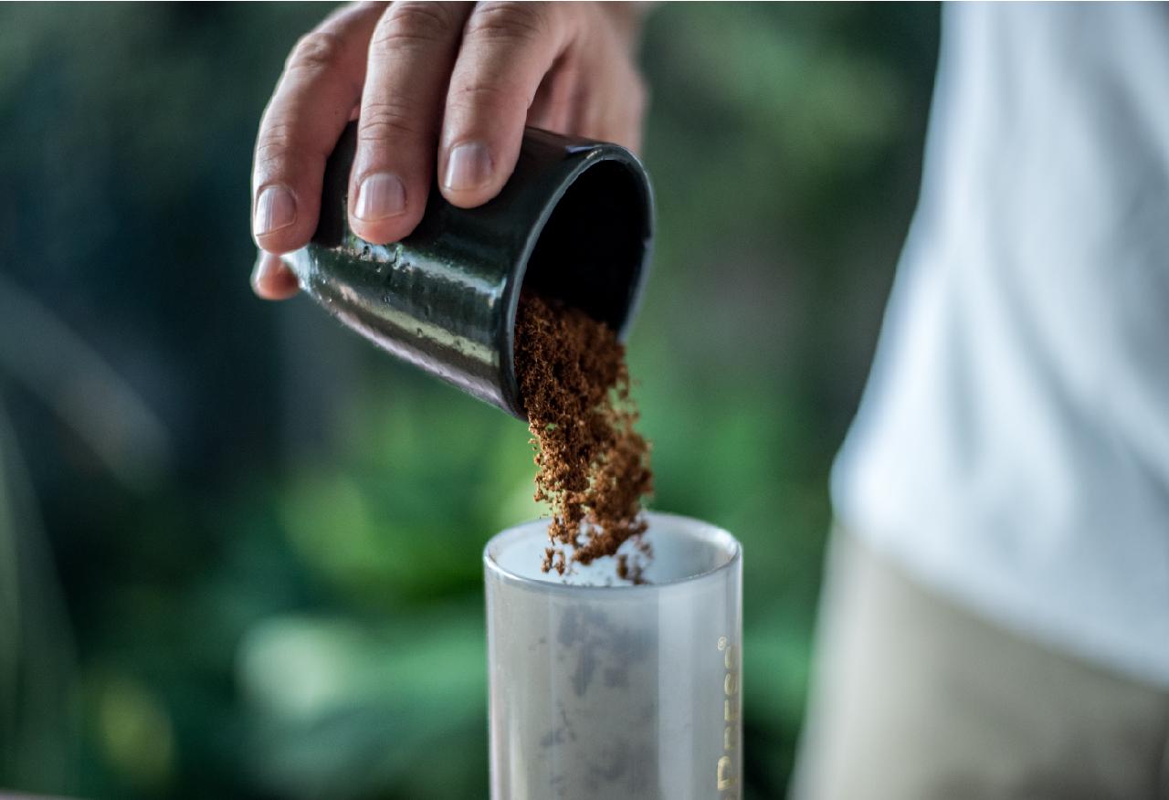 grão de café moído