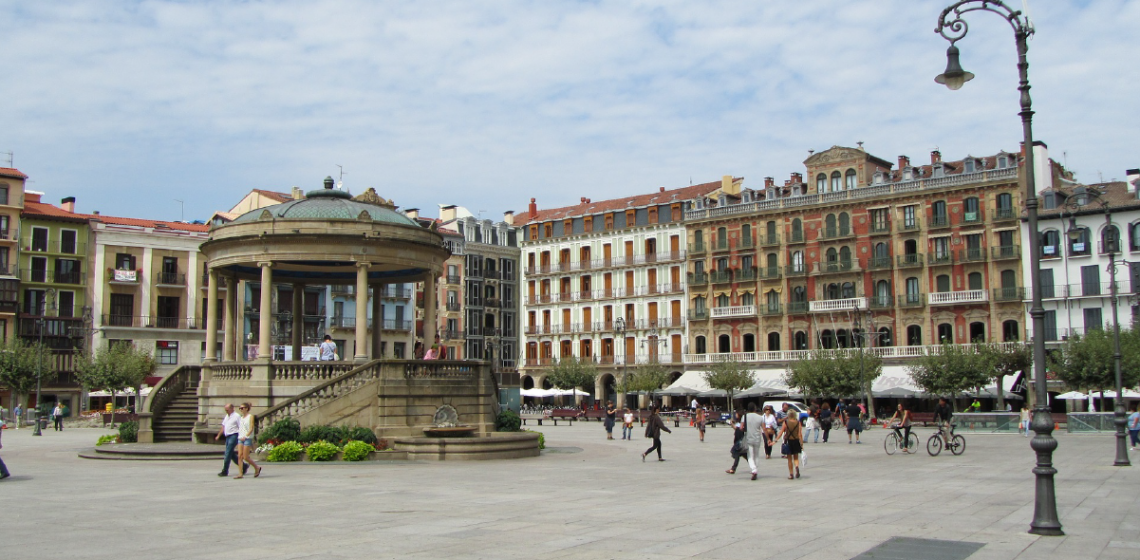 Square of a city in Spain