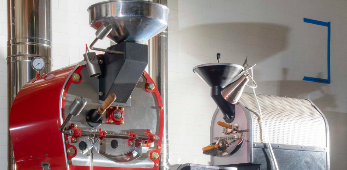 Two coffee roaster machine