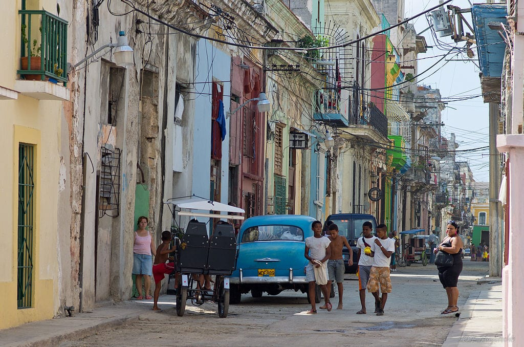 The streets of Cuba.