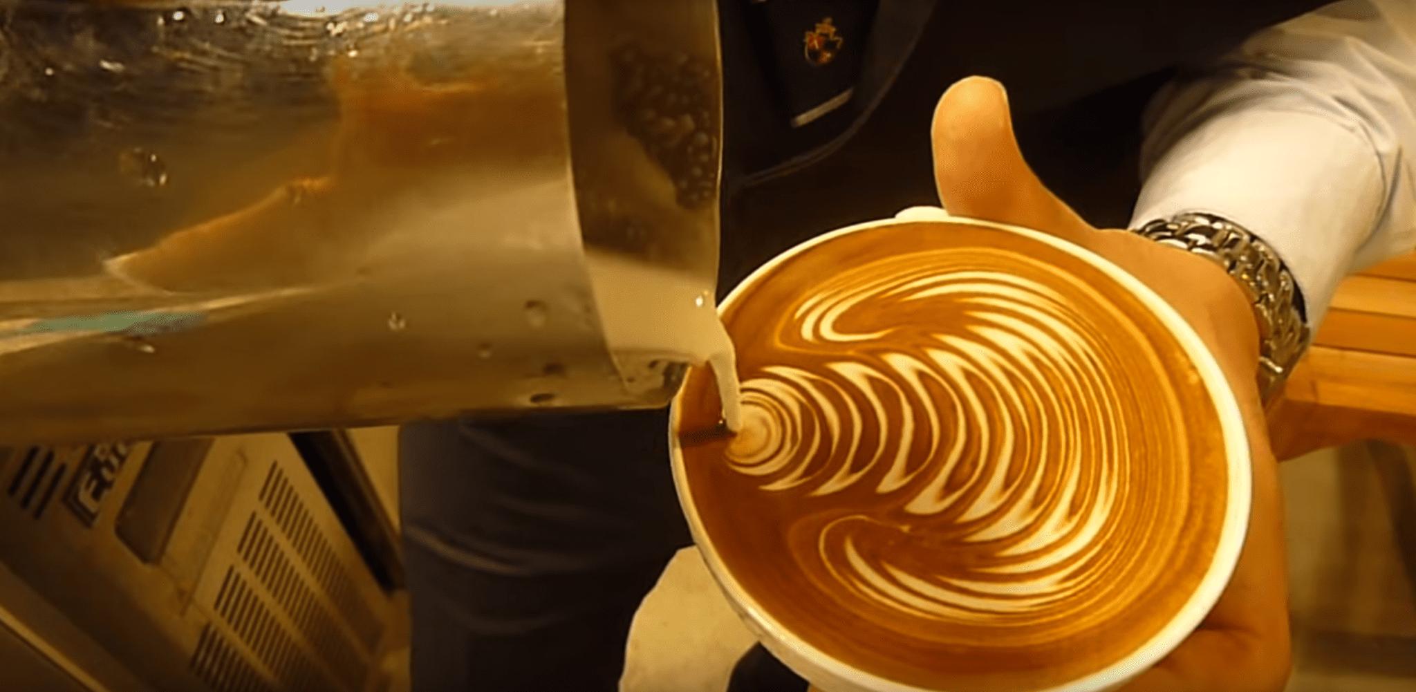 latte art free pour rosetta