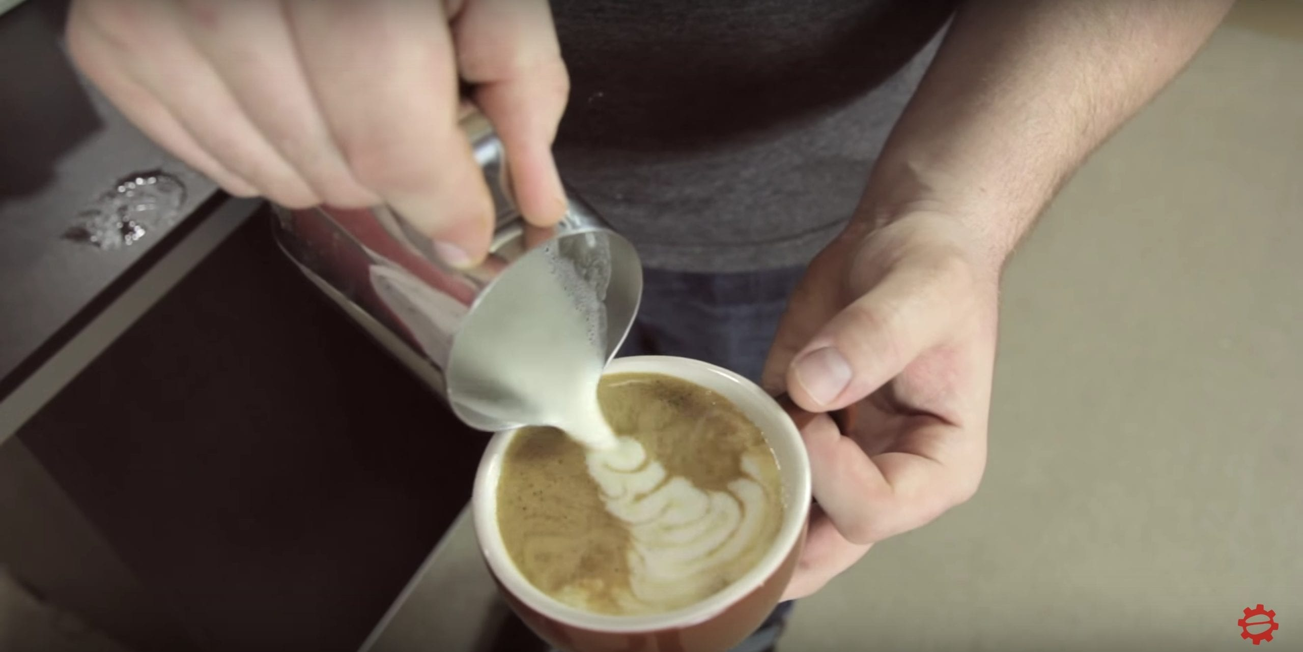 latte art with non dairy alternative soy milk coffee