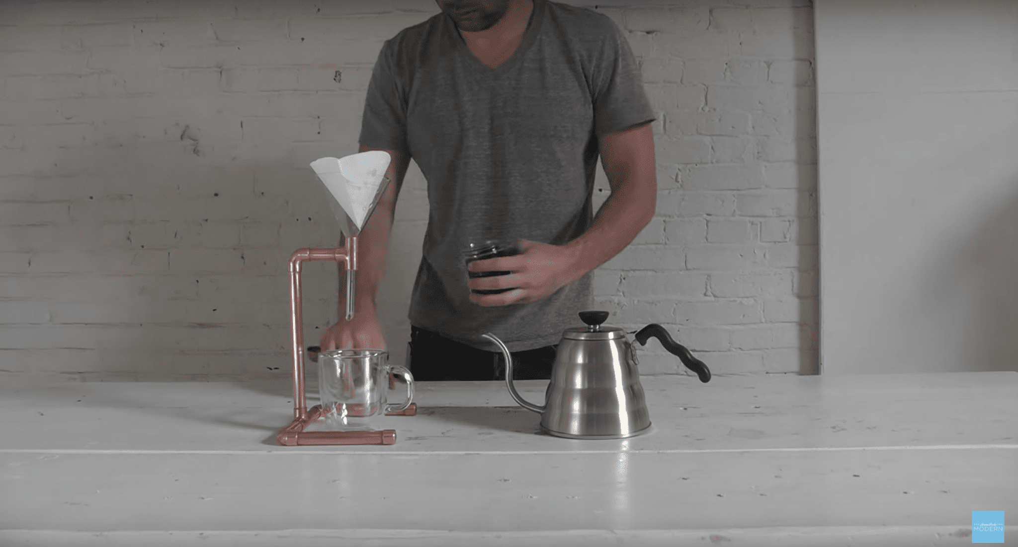 copper pour over stand