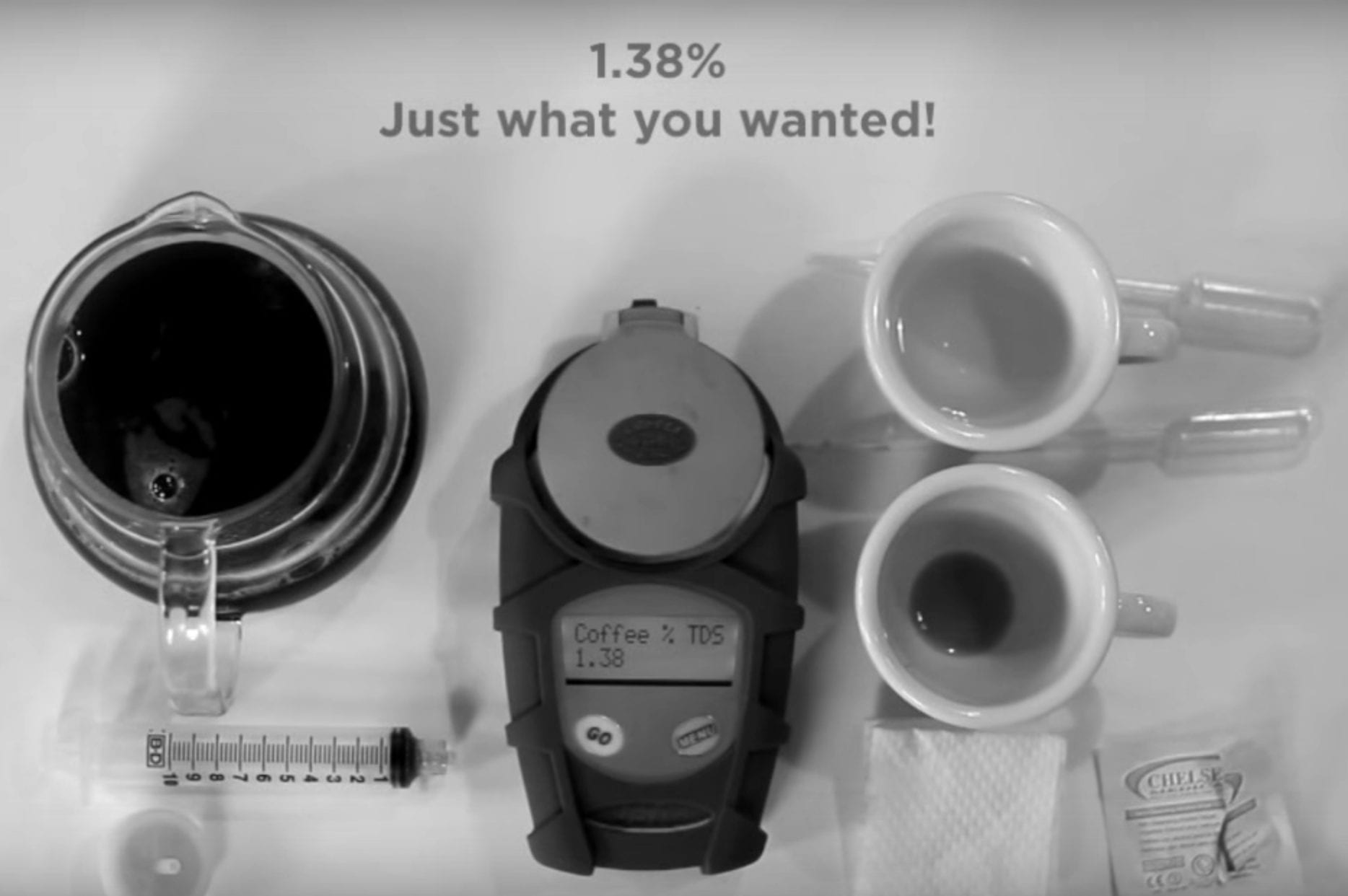 how to use refractometer TDS coffee