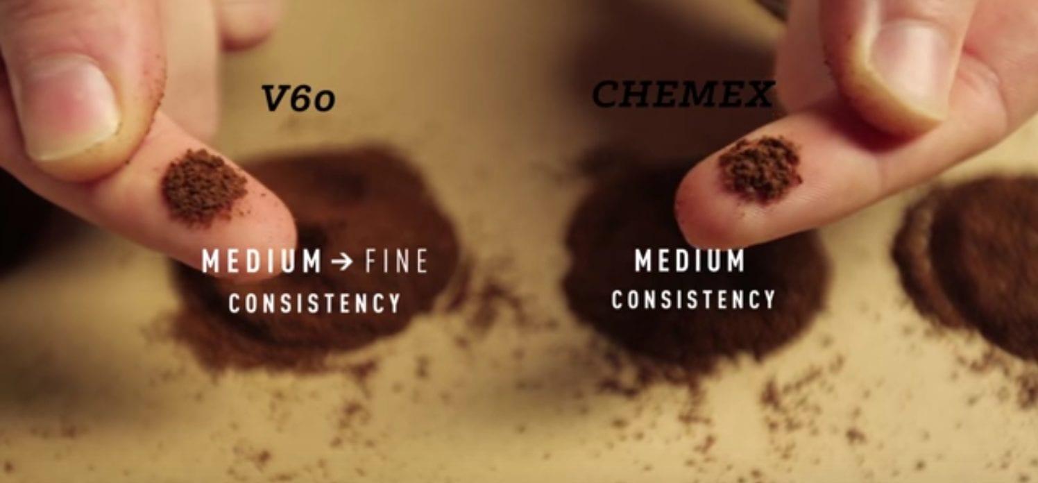 chemex grind size v60 pour over