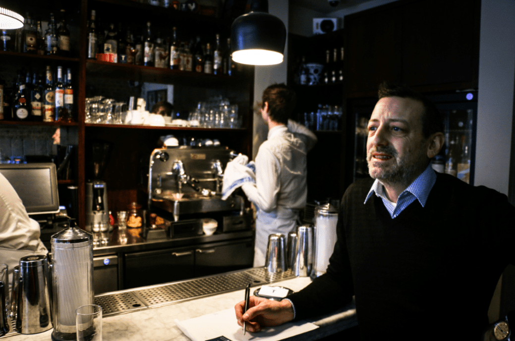 Marco Arrigo, Head of Quality at Illy and proprietor of Bar Termini