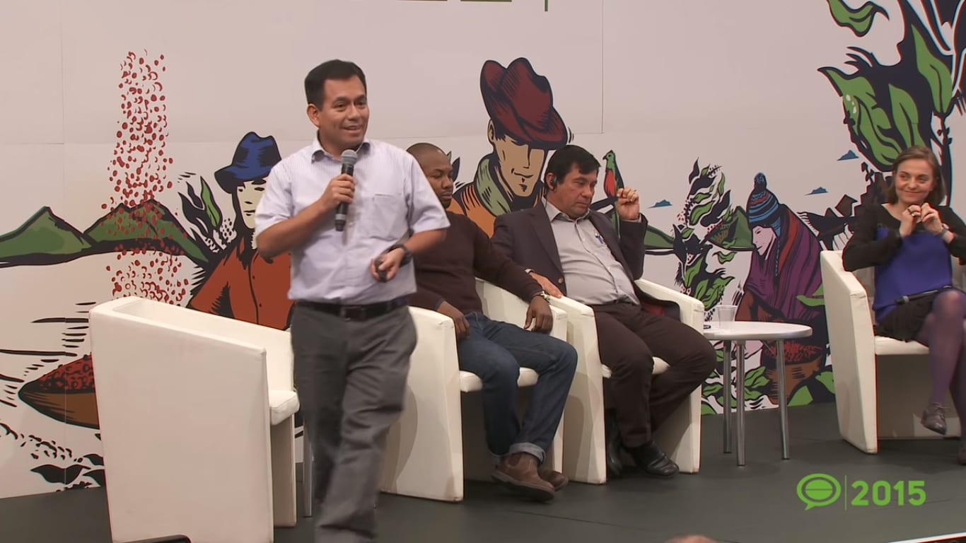 Javier Dominguez of Sol & Café at Let's Talk Coffee 2015