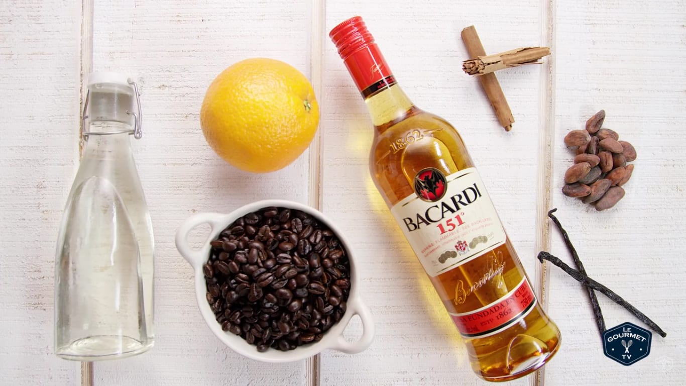 Ingredients for coffee liqueur