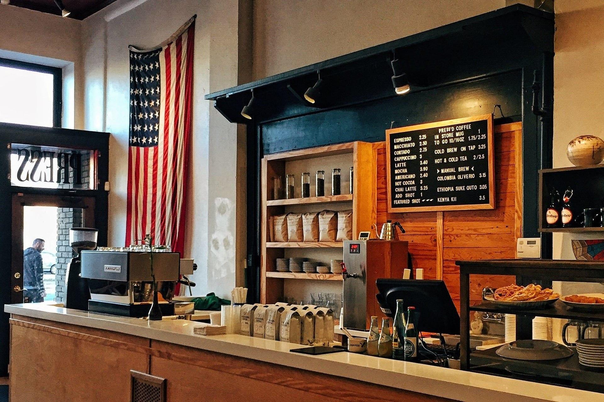 US coffee shop