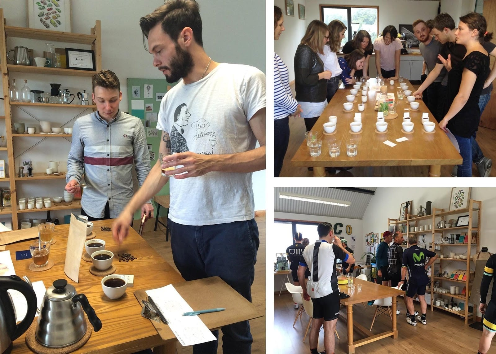 cupping event at the coffee officina