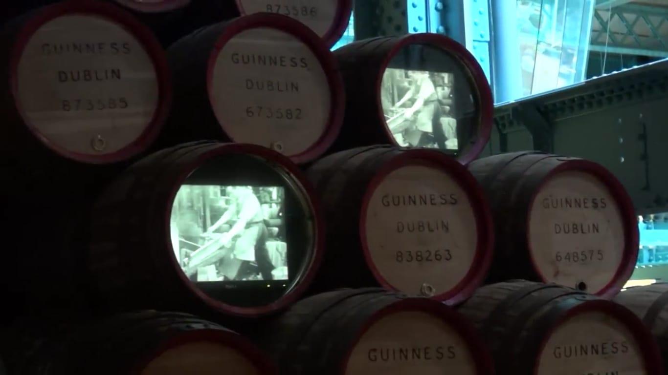 Guinness barrels in Dublin