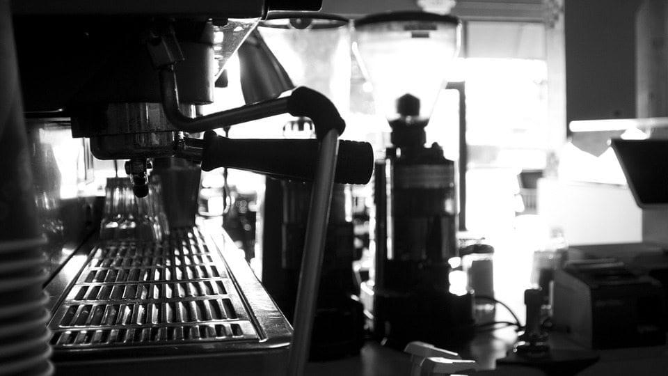 two-group espresso machine ready to make espressos