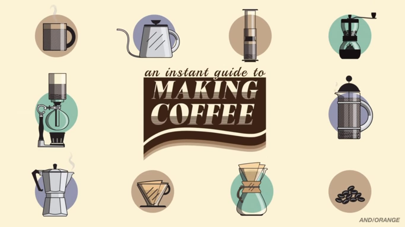 Coffee brewing devices graphic