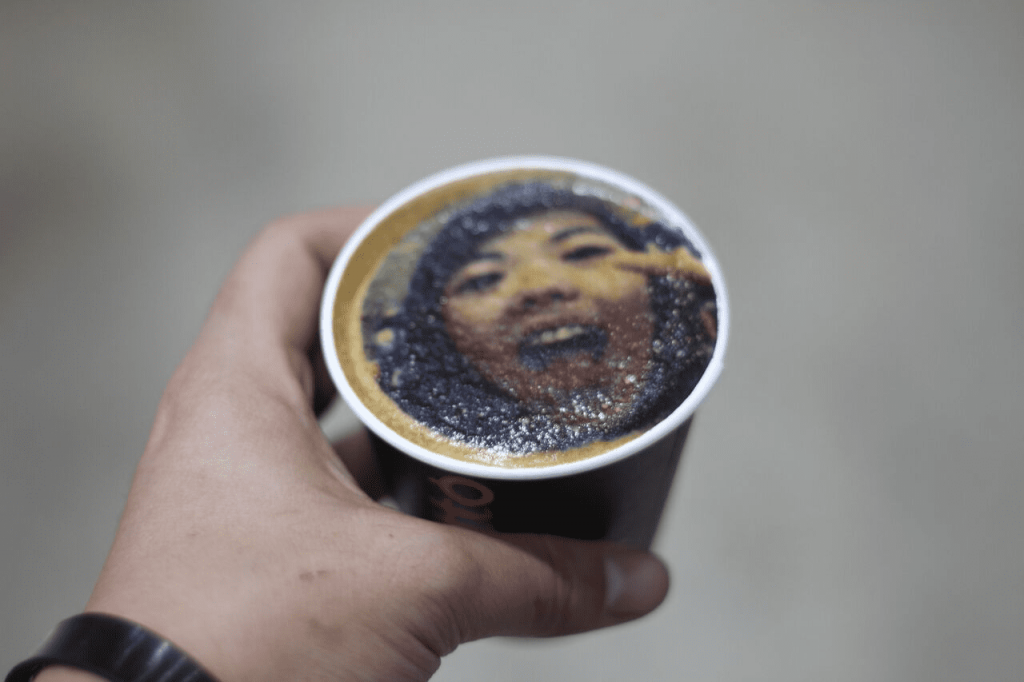 latte art with photo