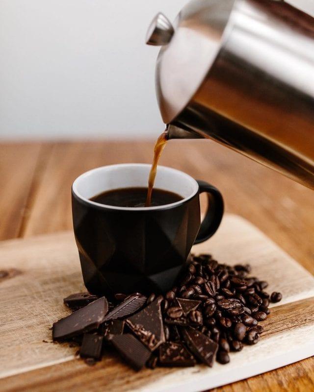 Chocolate and brewed coffee