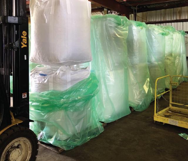 As bolsas herméticas FIBC são utilizadas para armazenar sacos grandes de 1–2 MT.