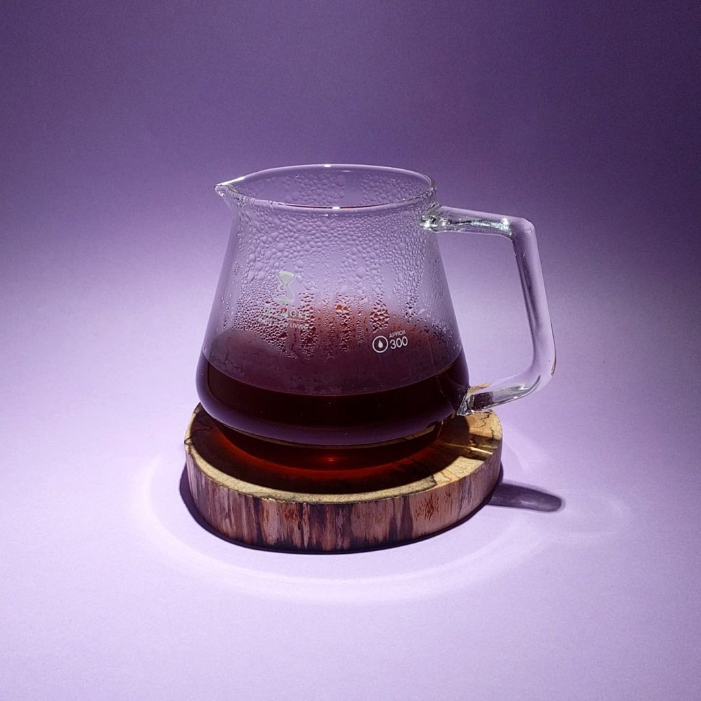 a jug with coffee