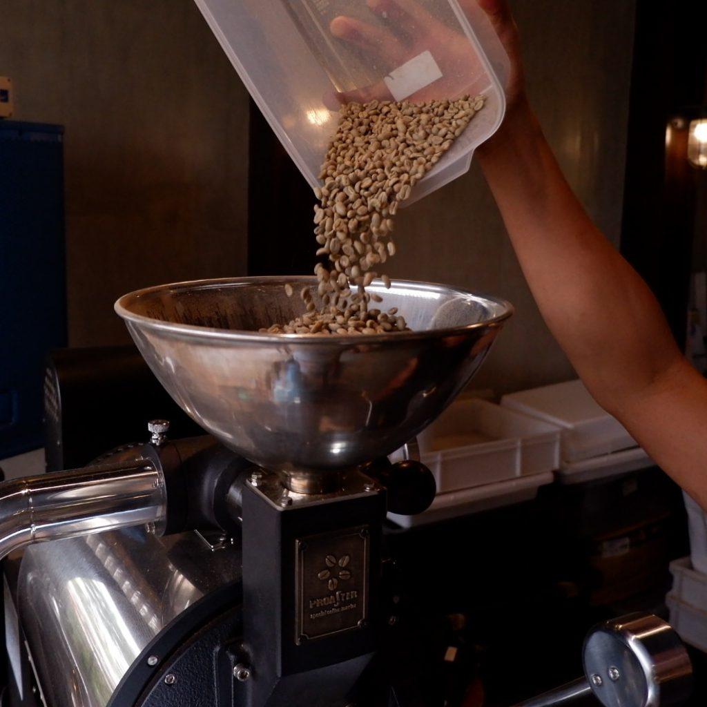 granos verdes de cafe listos para ser tostados