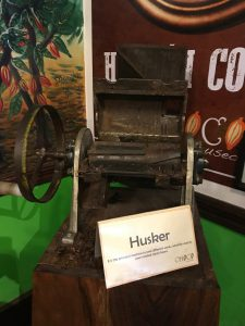 traditional cacao processing machinery