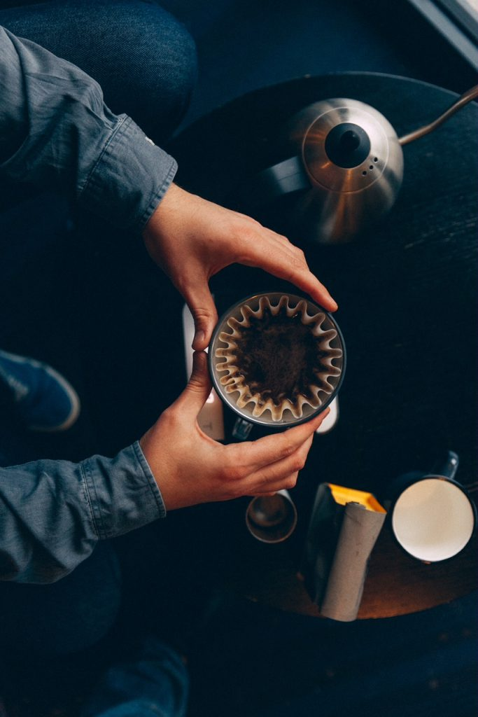 café extraído na kalita wave