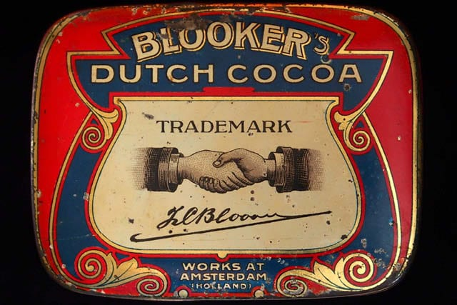 vintage dutch cocoa tin